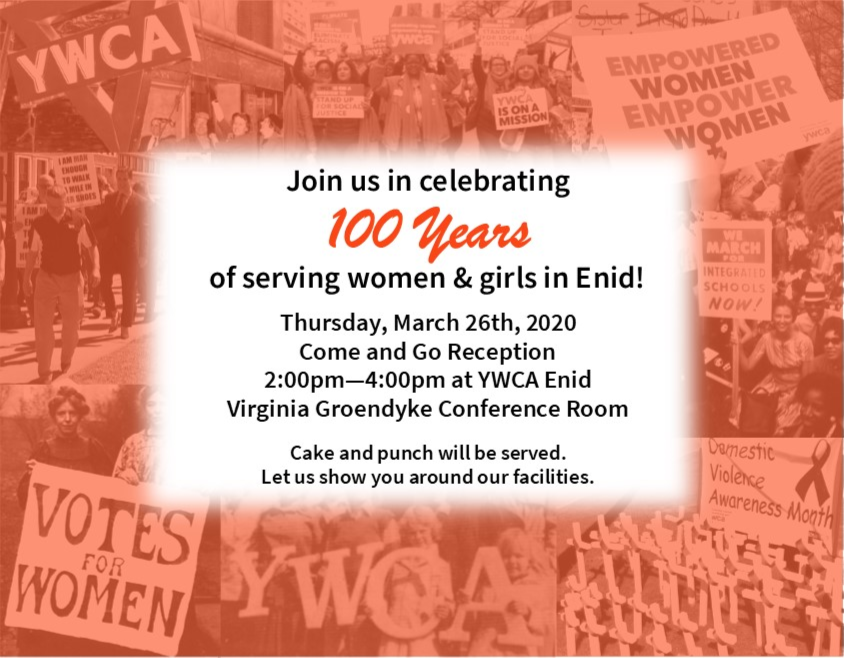 100 Year Anniversary Celebration! @ YWCA Conference Room